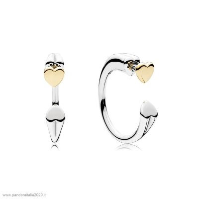 Offerte Pandora Online Two Hearts Earring Hoops