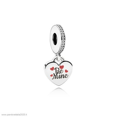 Offerte Pandora Online Be Mine Dangle Charm Burgundy Nero Enamel